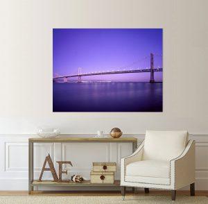 пейзаж Голдън Гейт, Канава; картина; картина на канава; картина пейзаж; картина мост; голдън гейт; градски пейзаж; мост, картина градски пейзаж, градски пейзаж