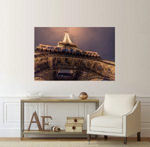 Айфелова кула; картина Айфелова кула; Париж; забележителност; градски пейзаж; канава; картина; картина на PVC; декорация за стена; декоративно пано; картина за стена;