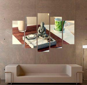 картина дзен градина; дзен градина; канава; картина; картина дзен; картина за стена; картина на PVC; картина на канава; картина с висока резолюция; декоративно пано; декорация за стена; висококачествен печат; снимка върху платно; картина от пет части; картина от части;