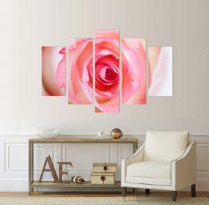 картина роза; роза; канава; картина; картина на PVC; картина на канава; картина цветя; декоративно пано; декорация за стена; картина за стена; висококачествен печат; снимка върху платно; картина с висока резолюция, картина от части, картина от пет части