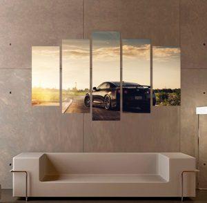картина от 5 части; картина от пет части; картина от части; Картина Nissan GT-R; Nissan GT-R; кола; спортна кола; канава; картина; картина за стена; картина на PVC; картина залез; картина на канава; картина пейзаж; картина природа; картина с висока резолюция; декоративно пано; декорация за стена; висококачествен печат; снимка върху платно; пейзаж; панорамен пейзаж; природен пейзаж;