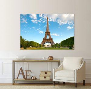 Айфелова кула; картина Айфелова кула; Париж; канава; картина; картина за стена; картина на PVC; картина на канава; картина пейзаж; картина с висока резолюция; градска забележителност; декорация за стена; забележителност; световни забележителности; декоративно пано; градски пейзаж; град; висококачествен печат; снимка върху платно