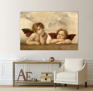 картина ангели; ангели; картина ангели- Рафаело; репродукция; ретро картина; картина с висока резолюция; канава; картина; картина за стена; картина на PVC; картина на канава; декоративно пано; декорация за стена; висококачествен печат; снимка върху платно;