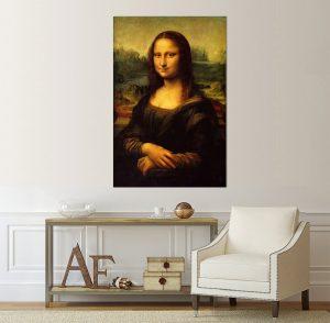картина Мона Лиза; Леонардо да Винчи, да Винчи, Давинчи; репродукция; картина с висока резолюция; Мона Лиза; канава; картина; картина за стена; картина на канава; картнно пано; портрет; декоративно пано; декорация за стена; висококачествен печат, Джокондата, Леонардо, Монализа