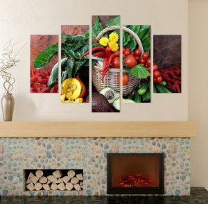 картина от 5 части; картина от пет части; картина от части; картина от сектори; картина зеленчуци; картина за заведения; картина за плод зеленчук; канава; картина; картина за кухня; картина за стена; картина на PVC; картина на канава; картини с храни; картина със зеленчуци; декоративно пано; декорация за стена; висококачествен печат; картина с висока резолюция; снимка върху платно;