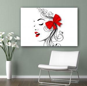 картина модерна жена; абстрактна картина; картина за козметично студио; картина за фризьорски салон; арт картина; канаваца; канава; картина; картина за стена; картина за салон за красота; салон за красота; картина на канава; картина с висока резолюция; декоративно пано; декорация за стена; висококачествен печат; снимка върху платно;