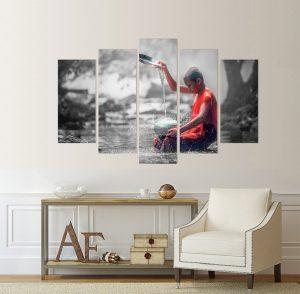 картина от 5 части; картина от пет части; картина от сектори; картина от части; абстрактна картина; дзен картина; картина; картина дзен; картина за стена; картина на PVC; картина на канава; картина с висока резолюция; картина медитация; декоративно пано; декорация за стена; висококачествен печат; снимка върху платно;