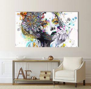 Абстрактна картина жена; абстрактна картина; изкуство; канаваца; канава; картина на канава; репродукция; картина; картина с висока резолюция; декоративно пано; декорация за стена;
