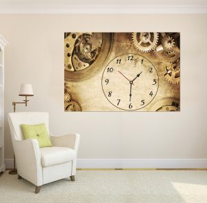 картина с висока резолюция; картина с часовник; картина с часовников механизъм; картина часовник; винтидж; винтидж картина; ретро картина; декорация за стена; декоративно пано; картина с часовник винтидж, висококачествен печат;