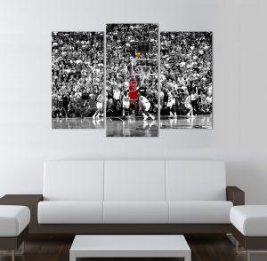 картина от 3 части; картина от сектори; картина от три части; картина от части; картина Майкъл Джордан; картина спорт; картина баскетбол; баскетбол; картина на спортна тематика; канава; канаваца; картина на канава; pvc пано; декоративно пано; декорация за стена; висококачествен печат; картина с висока резолюция;