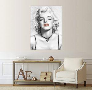 Картина Мерилин Монро; Мерилин Монро; картинно пано; картина; канава; канаваца; картина на канава; декоративни пана; декоративно пано; декорация; декорация за стена; висококачествен печат; картина с висока резолюция; дървена подрамка;