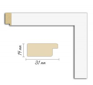 Дървен профил 02-31, Дървени профили за рамки, рамкиране, рамки за картини, рамки за гоблени, профили за рамки, профили за рамкиране, рамки от дърво, дървени рамки, профили за рамки, профили за рамкране, рамкиране на картини; бяла рамка, бяла дървена рамка, бял профил за рамка, бяла рамка от дърво; Дървен профил бял