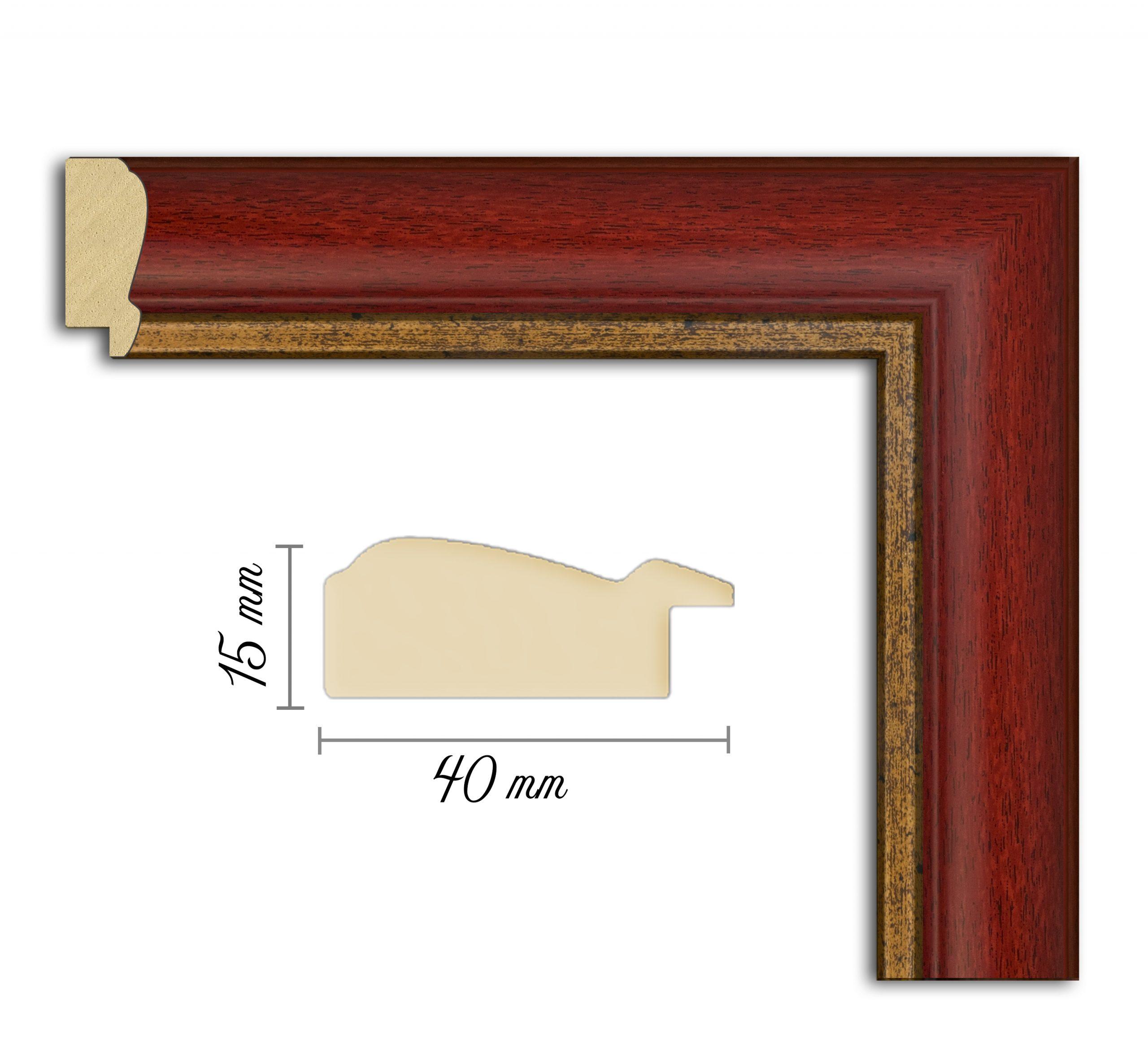 Дървен профил 02-40, Дървени профили за рамки, рамкиране, рамки за картини, рамки за гоблени, профили за рамки, профили за рамкиране, рамки от дърво, дървени рамки, профили за рамки, профили за рамкране, рамкиране на картини;Червена рамка, червен профил за рамка;