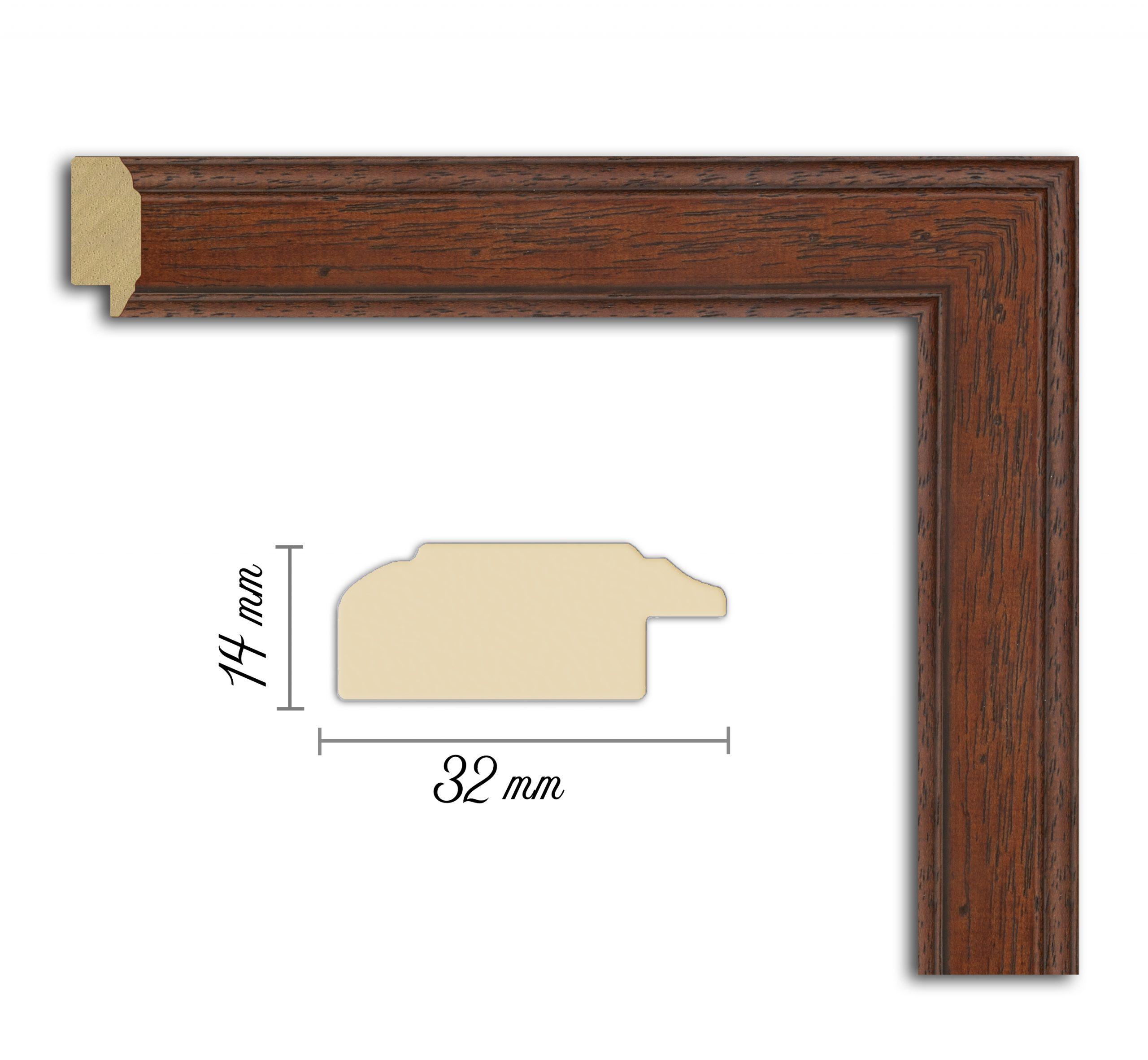 Дървен профил 03-32, Дървени профили за рамки, рамкиране, рамки за картини, рамки за гоблени, профили за рамки, профили за рамкиране, рамки от дърво, дървени рамки, профили за рамки, профили за рамкране, рамкиране на картини; кафява рамка, кафява дървена рамка, кафяв профил за рамка, кафява рамка от дърво; Дървен профил кафяв, дървесна рамка, сървесен прфил за рамка