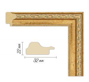Дървен профил 05-32, Дървени профили за рамки, рамкиране, рамки за картини, рамки за гоблени, профили за рамки, профили за рамкиране, рамки от дърво, дървени рамки, профили за рамки, профили за рамкране, рамкиране на картини; златна рамка, златна дървена рамка, златист профил за рамка, златиста рамка от дърво; Дървен профил златен, златиста рамка, златен прфил за рамка, златен прфил с орнаменти, златна рамка орнаменти, златна рамка дърворезба