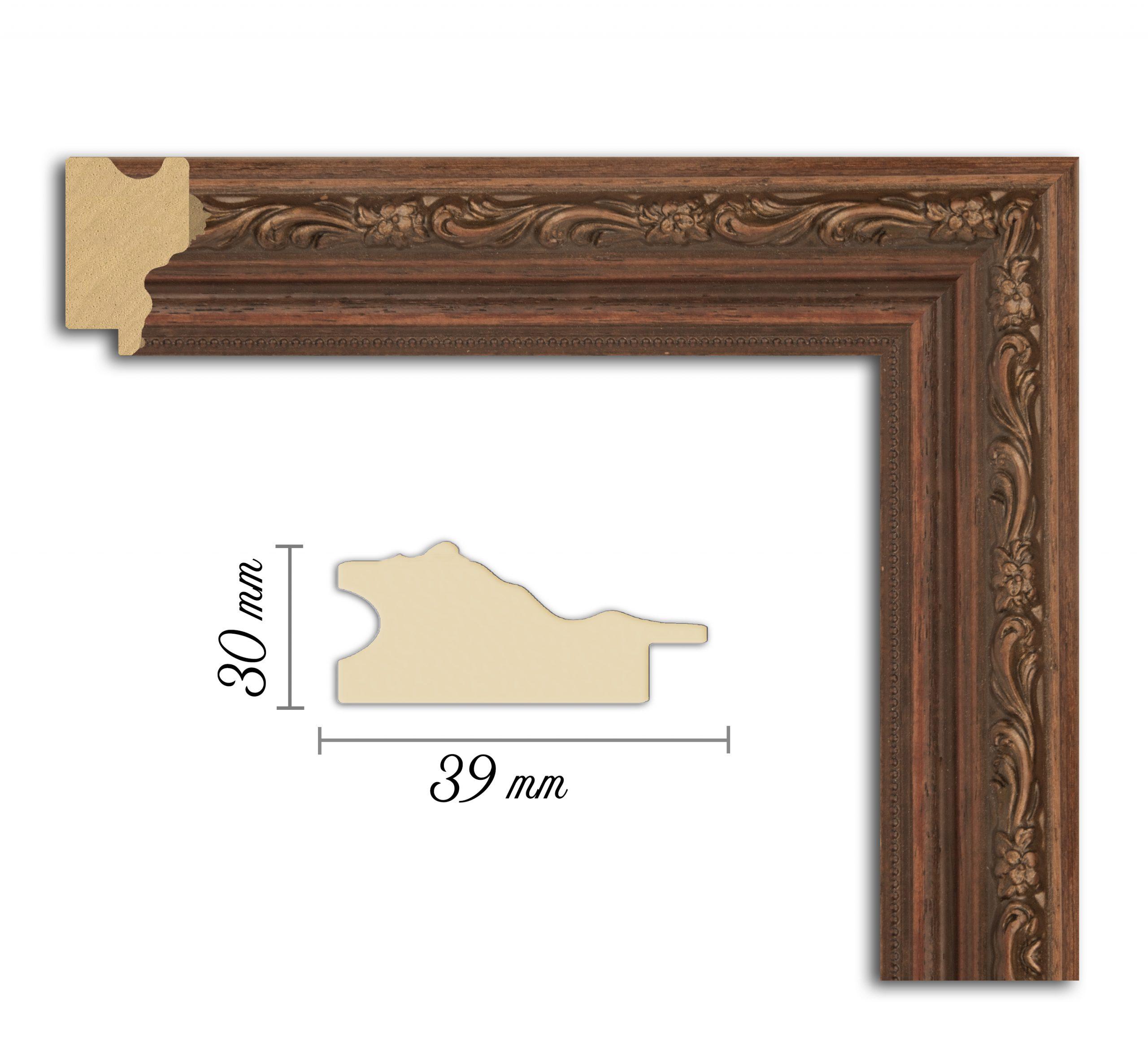 Дървен профил 06-39, Дървени профили за рамки, рамкиране, рамки за картини, рамки за гоблени, профили за рамки, профили за рамкиране, рамки от дърво, дървени рамки, профили за рамки, профили за рамкране, рамкиране на картини; рамка с орнаменти, кафява релефна рамка рамка, рамка с орнаменти, кафява рамка; Рамка дърворебза, профил с орнаменти