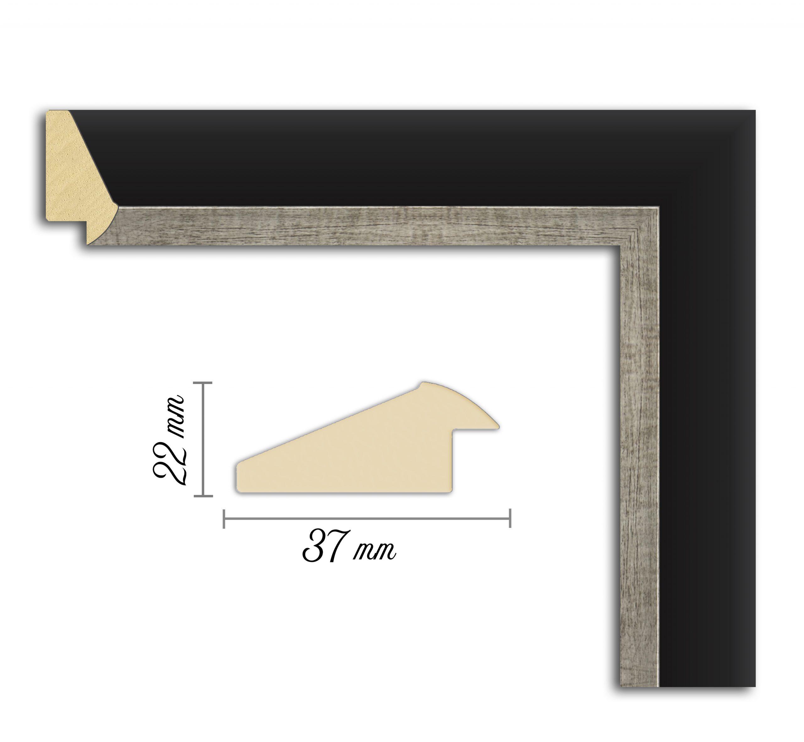Дървен профил 07-37, Дървени профили за рамки, рамкиране, рамки за картини, рамки за гоблени, профили за рамки, профили за рамкиране, рамки от дърво, дървени рамки, профили за рамки, профили за рамкране, рамкиране на картини; рамка платинена, черен профил за рамка, черно и сребърно рамка, рамка черно със сребро, черно и сребърно рамка; Рамка сребърна, профил за рамка черен.